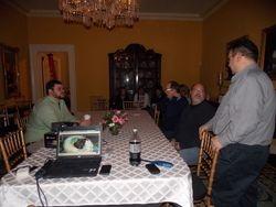 Joe on the right, leading the Spirit Circle
