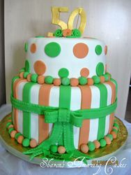 CAKE 20A2-Stripes and Dots Cake 2