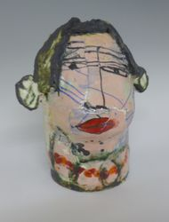Mary Jones Ceramics.  Attitude and lipstick .  SOLD
