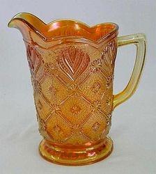 Beaded Acanthus milk pitcher, marigold