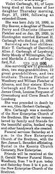 Carbaugh, Violet Fletcher 1990