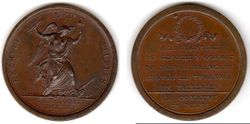 1792 French Revolution Medal by Duvivier