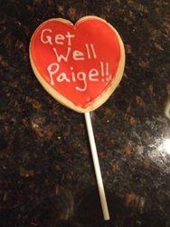 Heart Cookie Pop (Get Well Message)