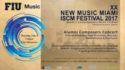 Poster of New Music Miami ISCM Festival 2017