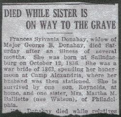 Donahay, Frances Sylvania Watson