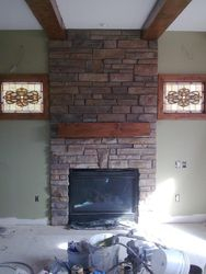 Cultured stone fireplace Denver Colorado
