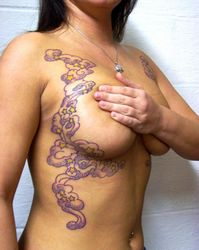 Kim's lovely design is on both sides of her body