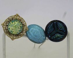 Triad, Moire Beetle & Victorian hatpins