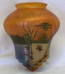 Enameled marigold lamp shade, European