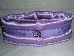 Purple satin padded choker .