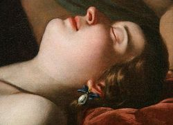 Artemisia Gentileschi, Venus Sleeping, detail, Richmond