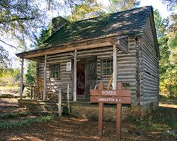School house in Andrew Jackson State Park, Lancaster, SC