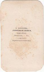 D. Rodocker, photographer of Champaign, IL - back