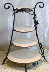 4 Tier Wrought Iron Cake Stand
