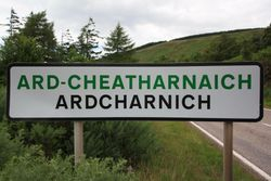 Ardcharnich, where my grandfather was born