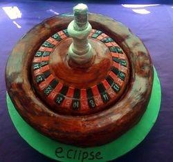 roulette wheel cake