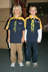 Bailey and Oscar at Scouts
