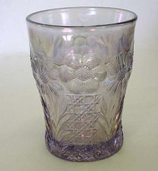 Cosmos and Cane, in lavender, U.S. Glass