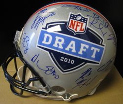 2010 NFL Draft Rookie Proline Helmet  Multi Signed by Sam Bradford and Ndamukong Suh Rookies OF The Year