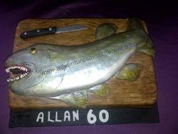 Fish (pike )  Birthday Cake