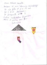 lettre de Saturnine