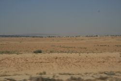 The plains on the side of the city, from which the Lighthorsemen charged