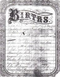 Fisher Family Bible Birth Page