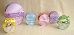 Gingham Baskets and Eggs