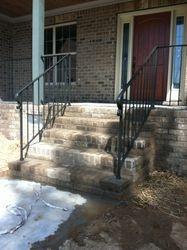 Front porch hand rails