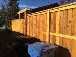 Fence fortress two cedar