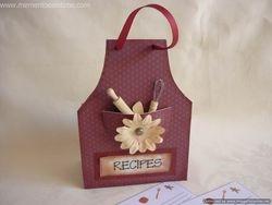 Chipboard Recipe Box
