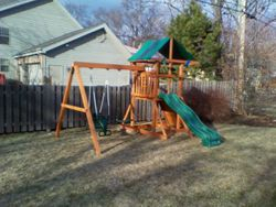 ERECTED SWING SET