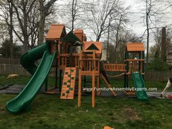 Gorilla empire extreme playset installation in fairfax Virginia