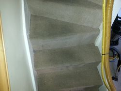 Stairs - before clean