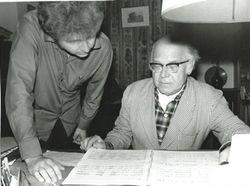 Alexis mit dem Komponisten Ferenc Farkas, Budapest 1971