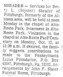 Shrader, Betty L. Soyster - Part 2
