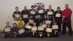 Presentation to Successful Candidates at Kempo Kyu Gradings - Inverness March 2012