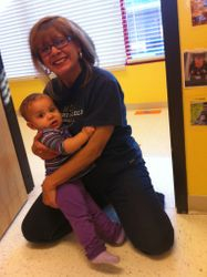 Picking up my grand daughter Savannah from day care