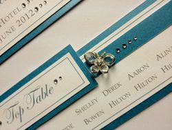 Butterfly Table Plan Turquoise Close Up