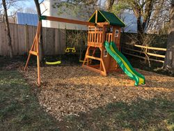 swing set installation completed in clarksville MD