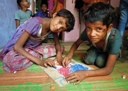 Mathura drop-in, supported by CHETNA and Hope for Children