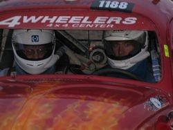 Pete behind the wheel testing