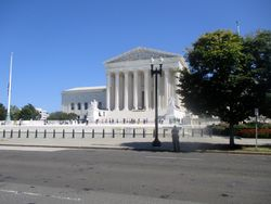 West Façade of US Supreme Court Building from Southwest During Lying in Repose of Associate Supreme Court Justice Ruth Bader Ginsburg