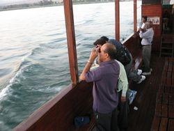 En bote por el mar de Galilea