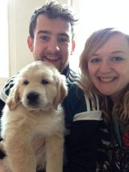 Andy and Alyssa with their lovely Finn