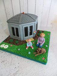 Summer House Birthday Cake