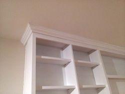 Wall Unit - molding detail