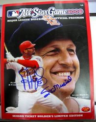 Albert Pujols and Stan Musial Autographed 2009 All Star Program