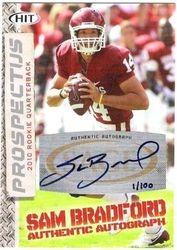 2010 Sage Sam Bradford Rookie Autograph Card #'d 1/100