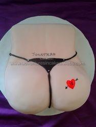 bum birthday cake